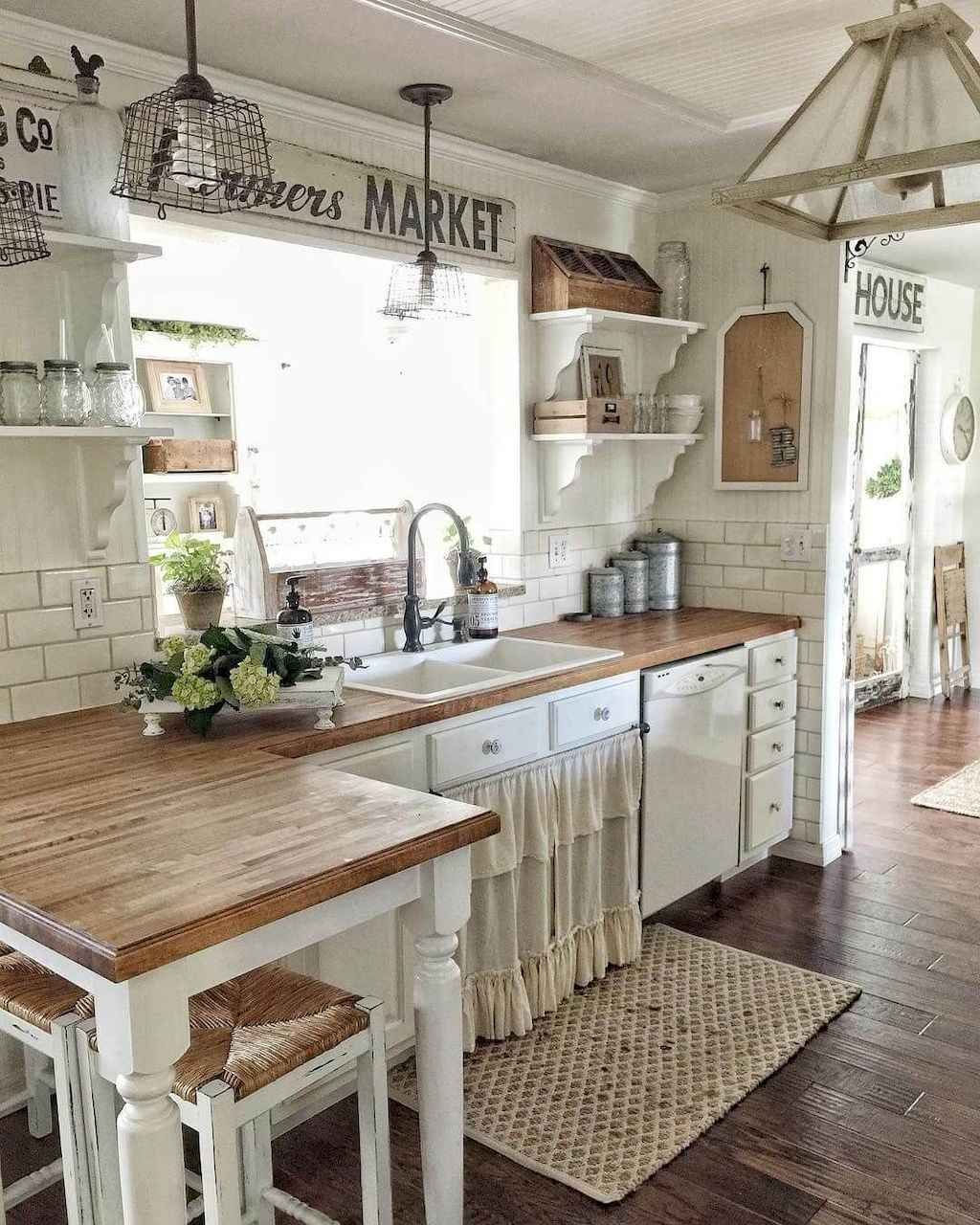 Best Rustic Farmhouse Kitchen Cabinet Makeover Ideas 29