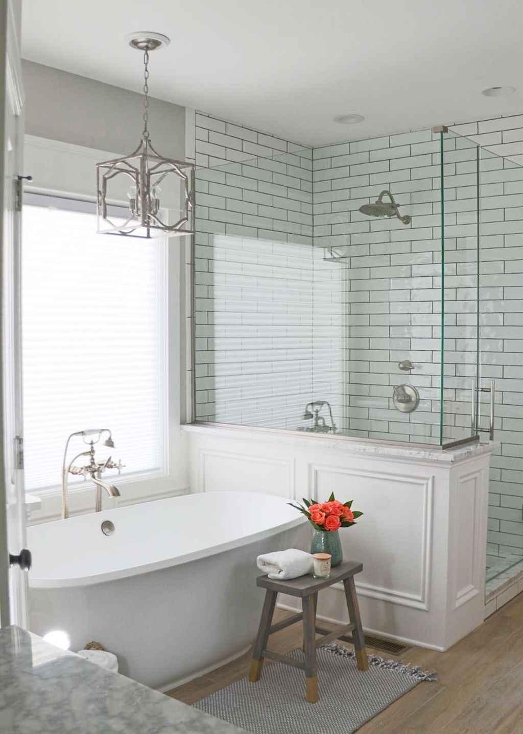 Rustic farmhouse master bathroom remodel ideas (61) - HomeSpecially