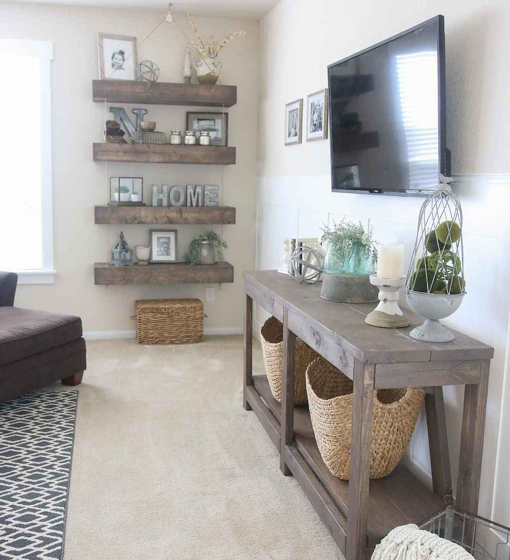Rustic modern farmhouse living room decor ideas (46 ...