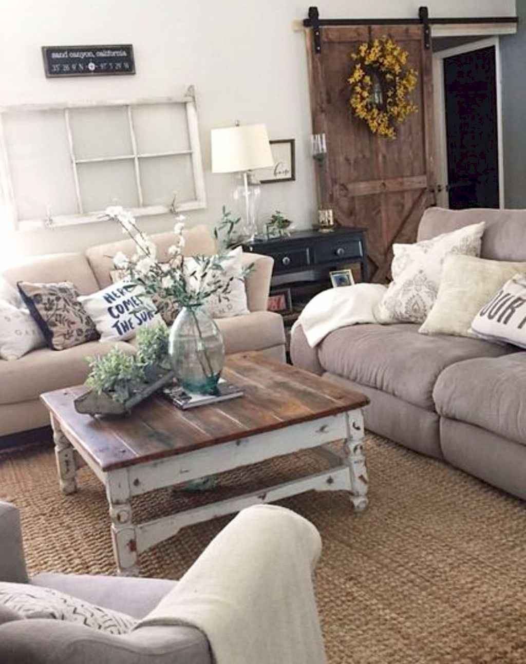 45 cozy modern farmhouse living room decor ideas
