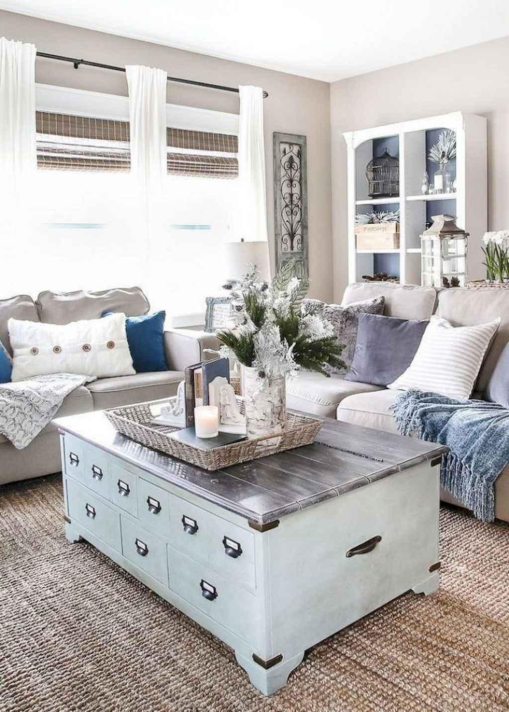 01 Best Modern Farmhouse Living Room Curtains Decor Ideas