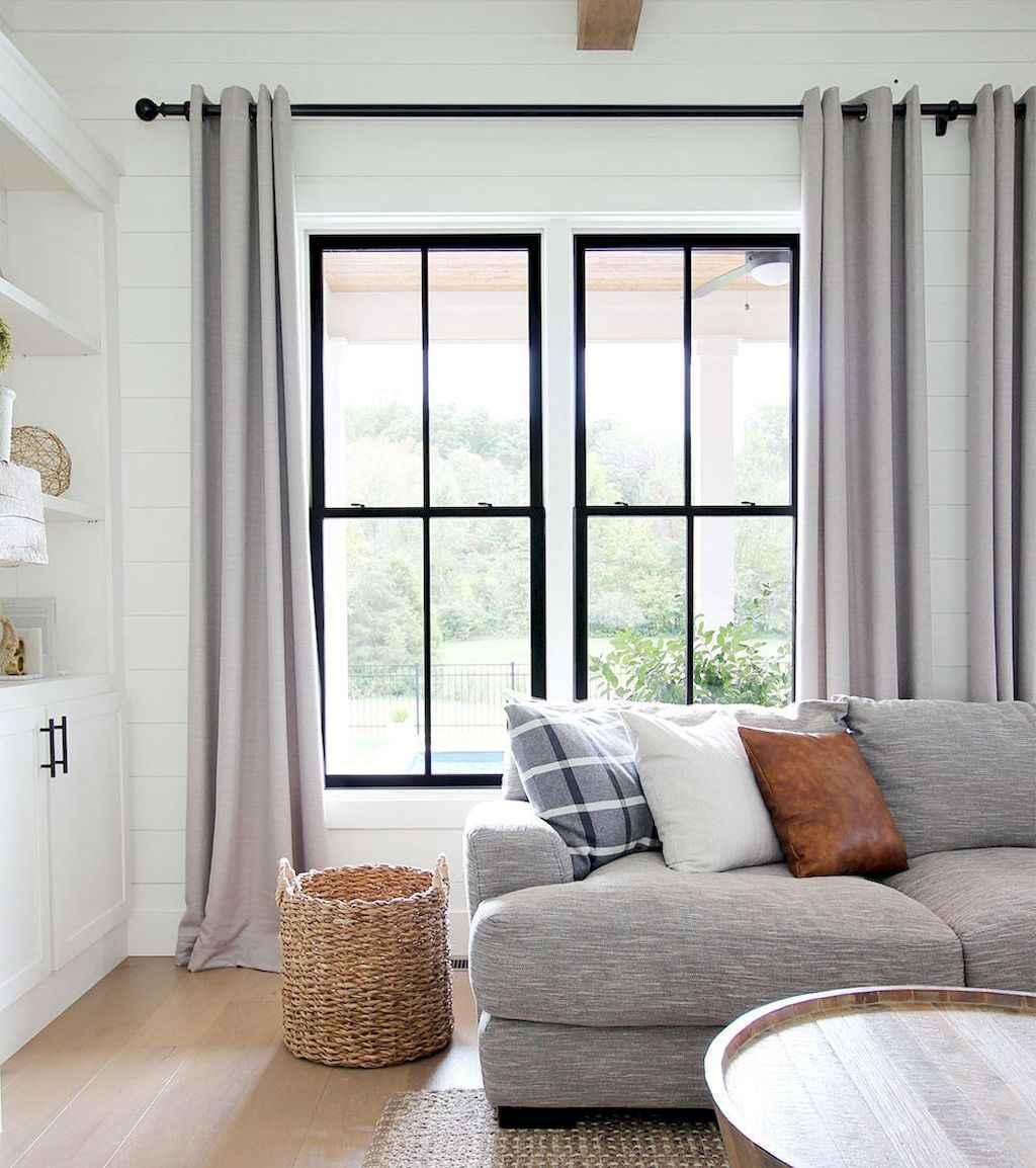 48 best modern farmhouse living room curtains decor ideas ...